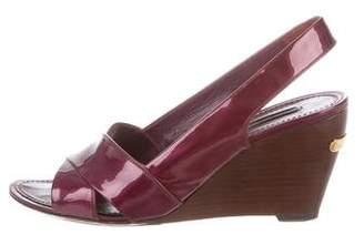 Louis Vuitton Slingback Wedge Sandals