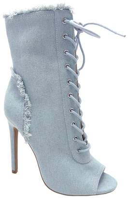 Wild Diva Lounge Yama Star Embroidered Block Heel Boot OgbEzAxfId