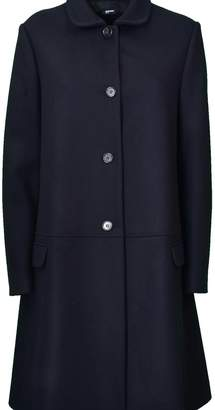 Jil Sander Navy D Single-breasted Coat