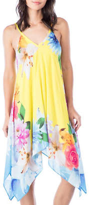 Nanette Lepore Floral Handkerchief Cover-Up Dress