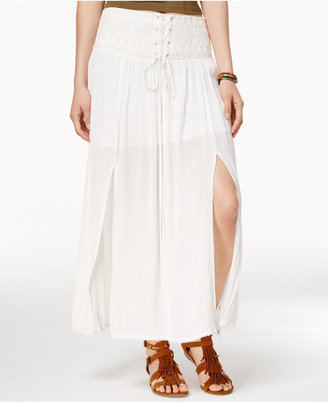 American Rag Lace-Up Maxi Skirt, Only at Macy's $49.50 thestylecure.com