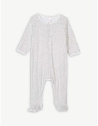 Petit Bateau Stripe print cotton sleepsuit 0-12 months