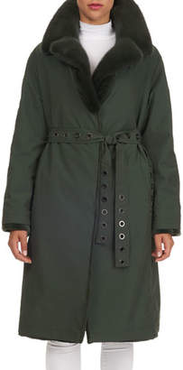 Gianfranco Ferre Reversible Mink-Fur Storm Anorak Jacket