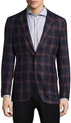 Isaia Plaid Wool Formal Jacket
