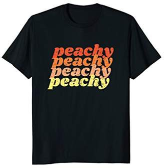 Peachy T Shirt Vintage Retro 70s Distressed Style