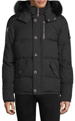 Moose Knuckles 3Q Fur-Trimmed Puffer Jacket