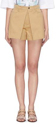 Chloé Pleated front safari shorts
