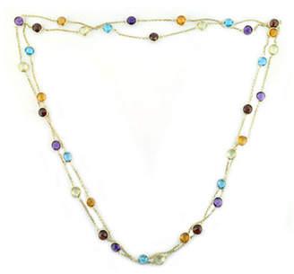 Effy 14K Yellow Gold Multi Coloured Gemstone Station Necklace