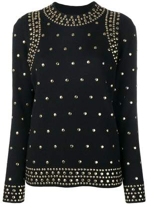 MICHAEL Michael Kors studded detail sweater