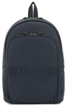 BOSS Hugo Rubberized backpack pixelated logo One Size Dark Blue