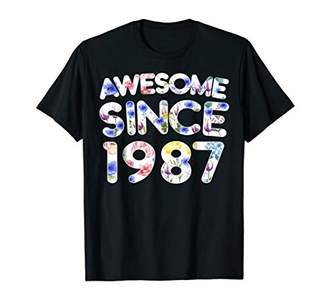 Awesome Since 1987 31th Birthday Floral Birthday T-Shirt