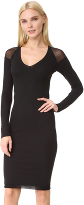 Fuzzi Long Sleeve V Neck Dress $320 thestylecure.com