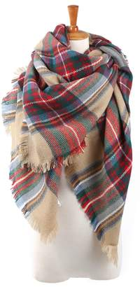Wenseny Womens Scarves Wrap Blanket Fashion Winter Warm Cashmere Square Scarf