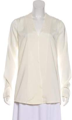 Alexander Wang Silk Long Sleeve Top