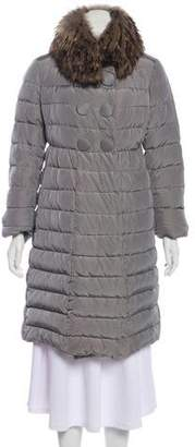 Pre-Owned at TheRealReal · Moncler Fur-Trimmed Down Coat