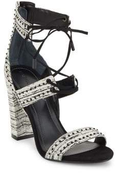 KENDALL + KYLIE Dawn Studded Leather Lace-Up Sandals