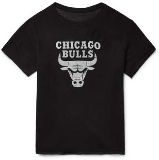 The Elder Statesman + Nba Chicago Bulls Printed Cashmere And Silk-Blend T-Shirt