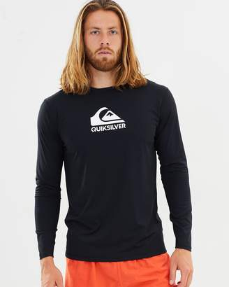Quiksilver Mens Solid Streak Long Sleeve Rash Vest