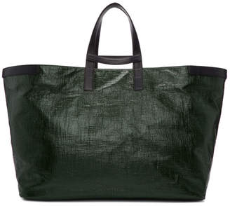 Jil Sander Green Helve Shopper Tote
