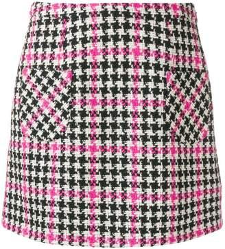 Moschino houndstooth mini skirt