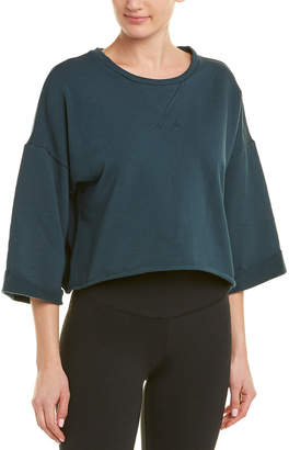Betsey Johnson Performance Cropped Sweatshirt