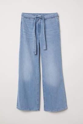 H&M Wide High Waist Jeans - Blue