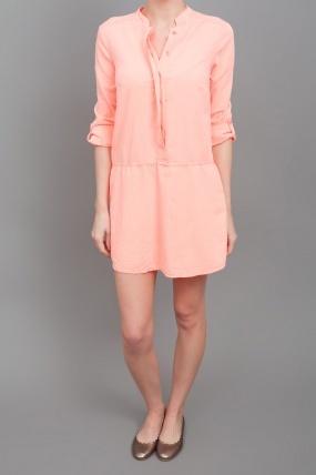 Splendid Shirt Dress Coral