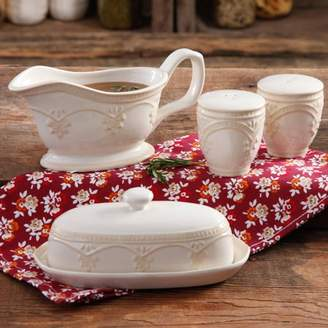 Butter Shoes THE PIONEER WOMAN The Pioneer Woman Farmhouse Lace Dish with Gravy Boat and Salt and Pepper Shakers