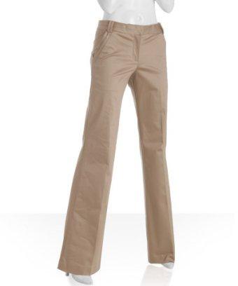 Tory Burch khaki stretch cotton 'Hannah' pants