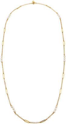 Majorica Modern Metal Pearly Chain Necklace, 16L