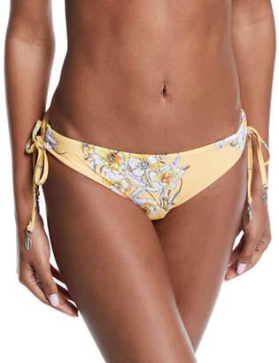 199b1832fa796 Seafolly Midsummer Floral Side-Tie Bikini Swim Bottoms