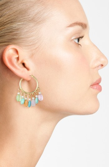 Lauren Ralph Lauren Beaded Hoop Earrings
