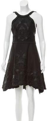 Alexis Embroidered Halter Dress