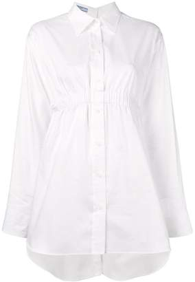Prada ruched waist shirt