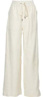 Zimmermann Button-Detailed Silk-Gauze Wide-Leg Pants