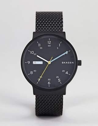 Skagen SKW6456 Ancher Watch with Mesh Strap
