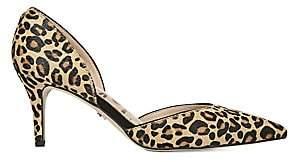 Sam Edelman Women's Jaina Leopard Calf Hair Point Toe Pumps