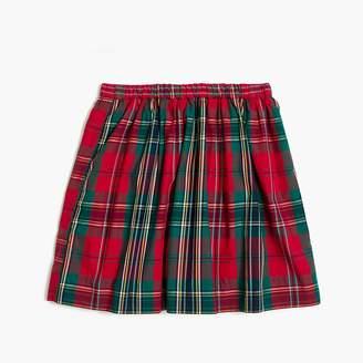 J.Crew Girls' sparkle plaid skirt