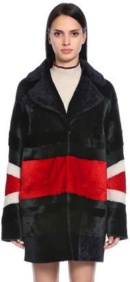 Drome Reversible Patchwork Shearling Coat