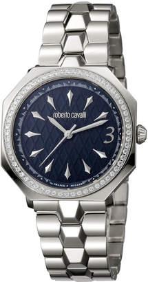 Roberto Cavalli By Franck Muller 33mm Bracelet Watch w/ Crystal Bezel