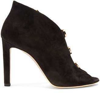 Jimmy Choo Lorna 100mm suede ankle boots
