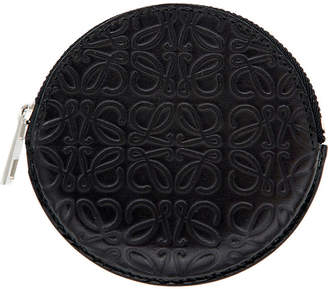 Loewe Black Cookie Embossed Leather Coin Purse
