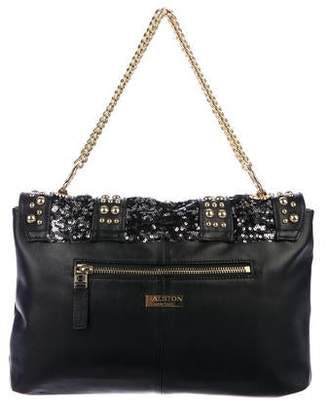 735dc81576 Pre-Owned at TheRealReal · Halston Carla Studded Flap Bag