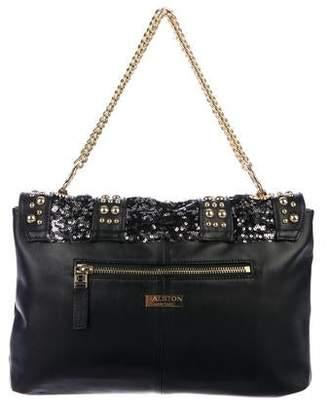 Halston Carla Studded Flap Bag