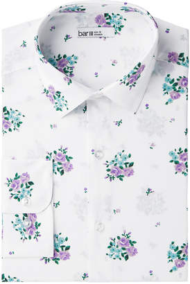 Bar III Men's Slim-Fit Stretch Easy-Care Floral Dress Shirt, Created for Macy's