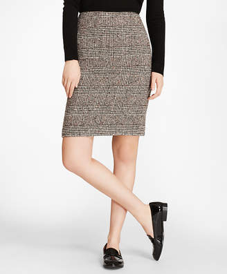 Brooks Brothers Glen Plaid Tweed Pencil Skirt