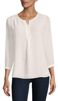 Daniel Rainn Embroidered Henley Top
