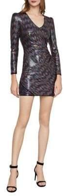 BCBGMAXAZRIA Multicoloured Sequin Bodycon Dress
