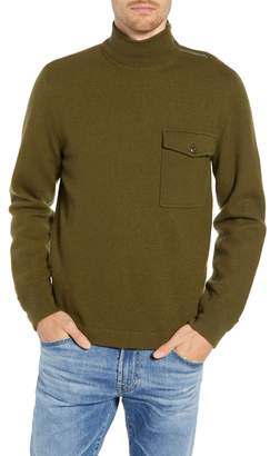 J.Crew Wallace & Barnes Felted Merino Wool Mock Neck Pullover