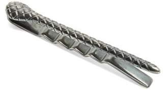 Bottega Veneta Intrecciato Engraved Tie Bar - Mens - Silver